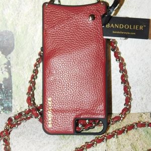 Free People Bandolier Lucy Pebbled Crossbody Case